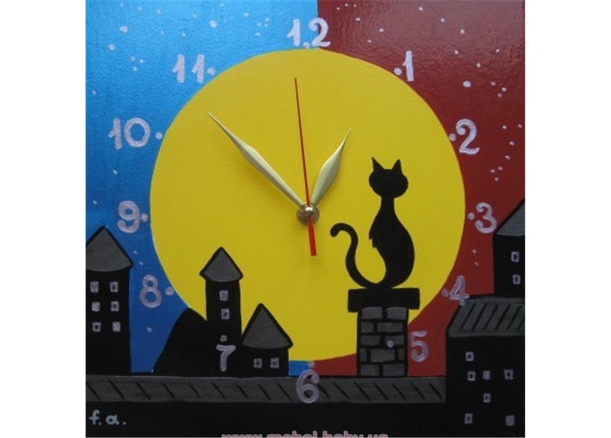 Часы Кот с луной