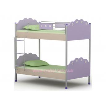 Двухъярусная кровать Si-12 Briz 90х200 Лаванда ЛДСП