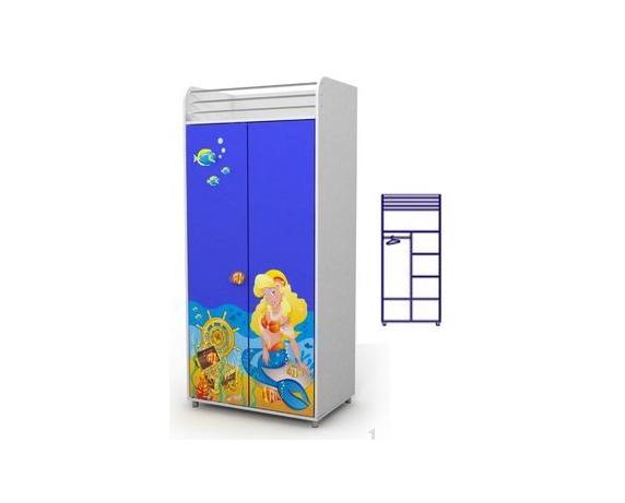 Двухдверный шкаф Od-02-2 (русалка)