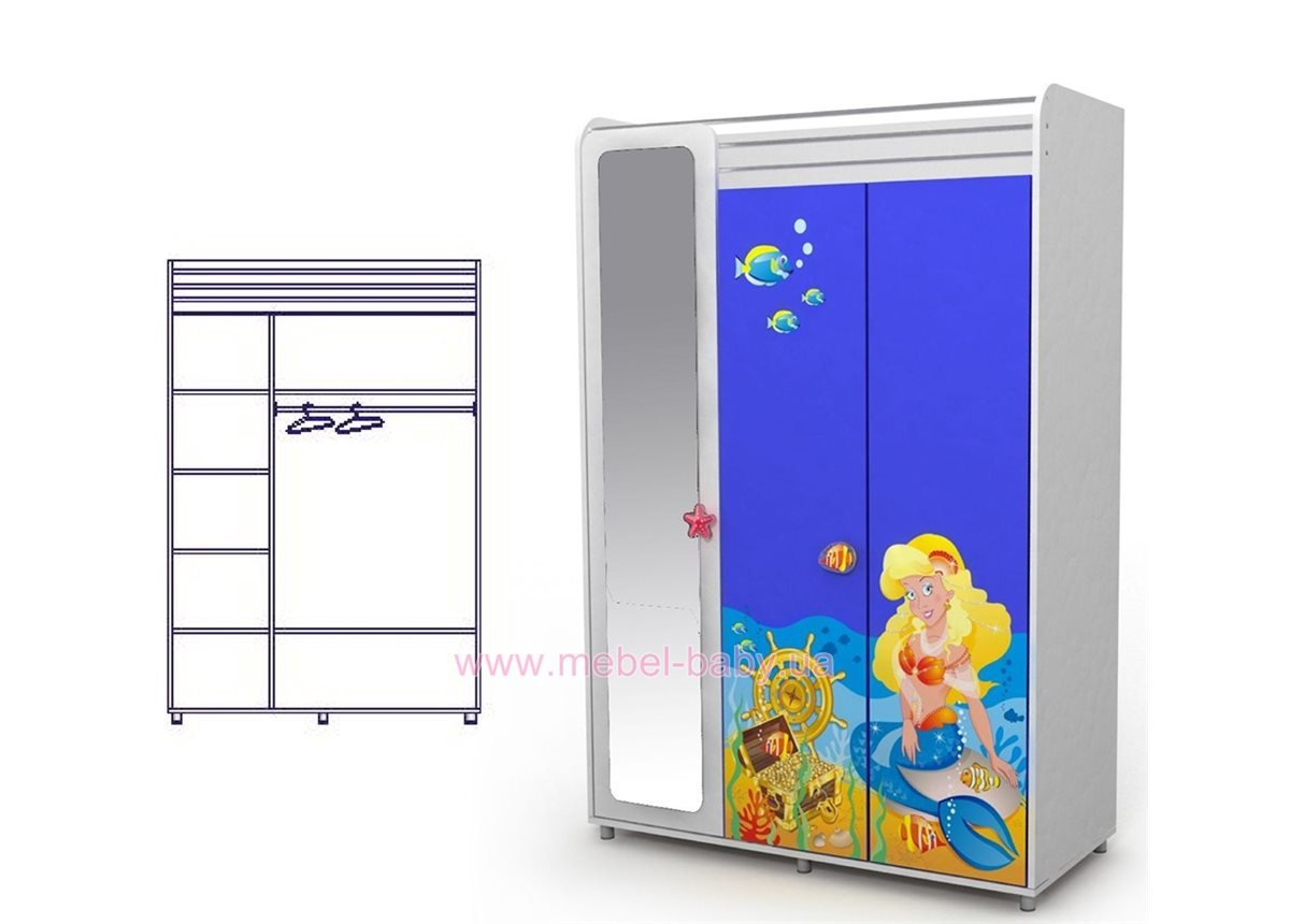 Трехдверный шкаф Od-03-2
