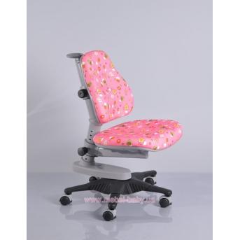 Кресло Mealux Newton PN (арт.Y-818 PN) обивка розовая со зверятами