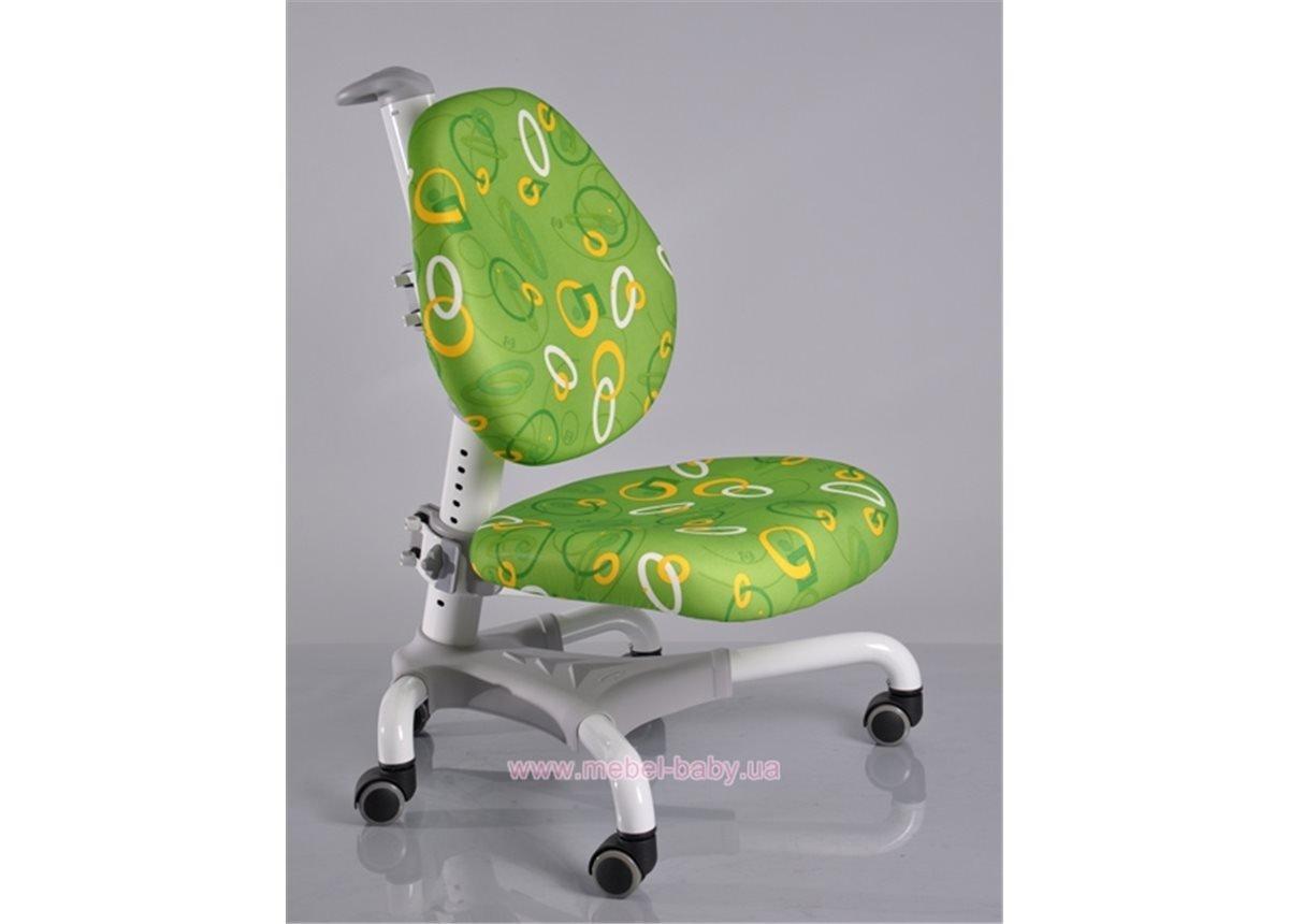 Кресло Mealux Champion WKZ (арт.Y-718 WKZ) белый металл / обивка зеленая однотонная