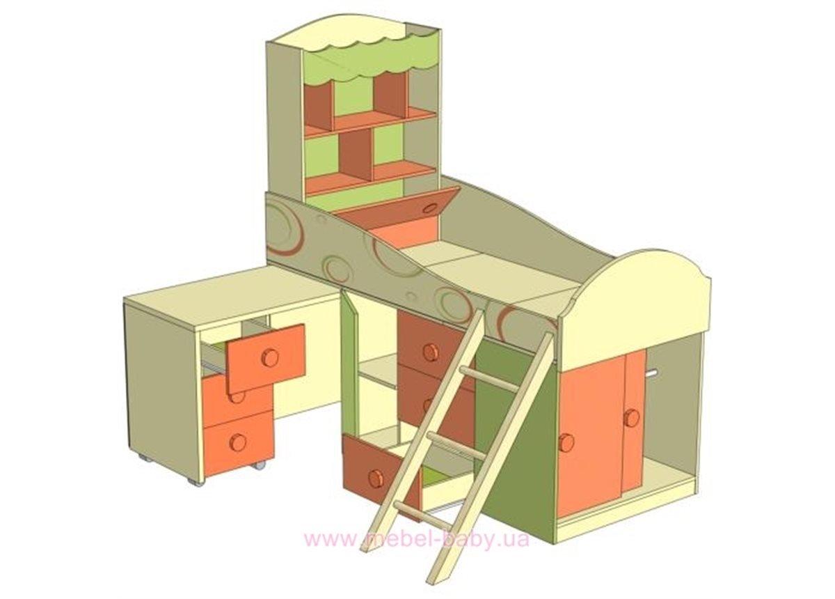 Фруттис ЛД 503.010.000 кровать со столом