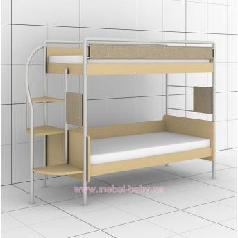 Двухъярусная кровать DJ-02 Эдисан 80х190 Бежевый ЛДСП