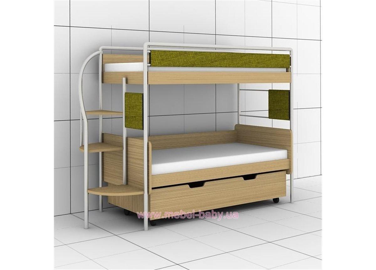 Двухъярусная кровать DJ-03 (с ящиками) Эдисан 80х190 Бежевый ЛДСП
