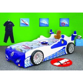 Кровать-машинка с матрасом Полиция
