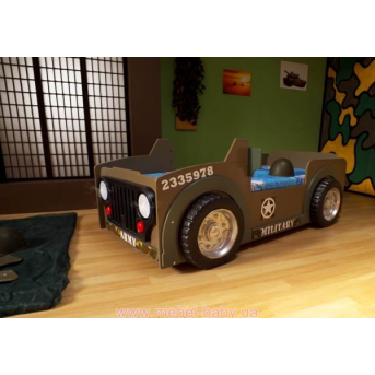 Кровать-машинка с матрасом Jeep