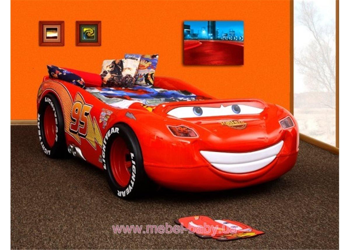 Кровать-машинка с матрасом McQueen ABS