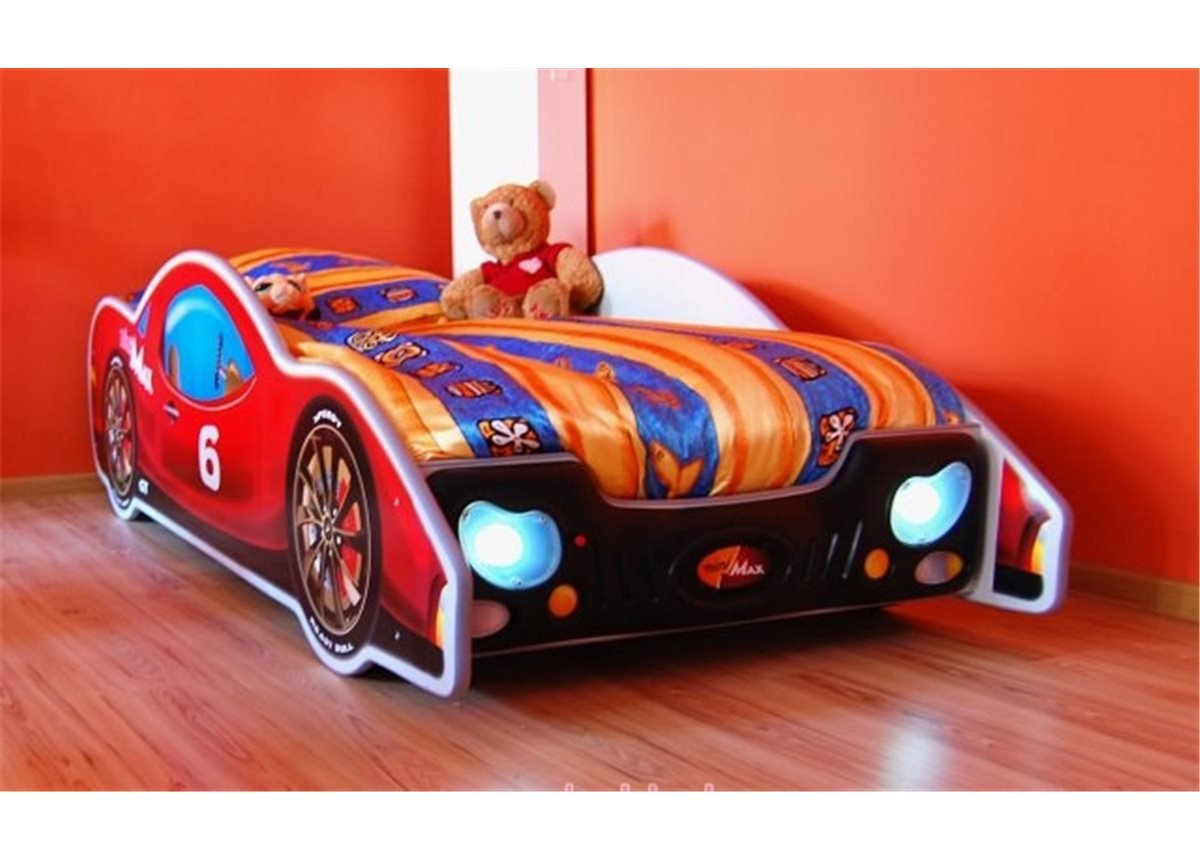 Кровать-машинка с матрасом MiniMax