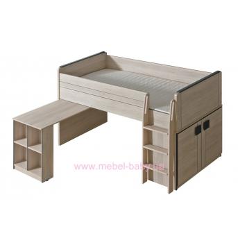 Кровать с выдвижным столом и лесенкой G15 Dolmar