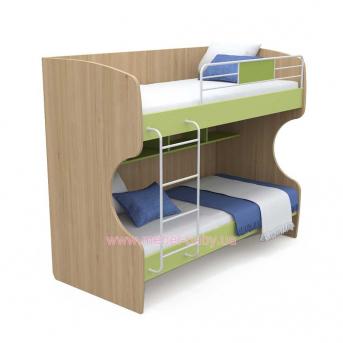 Выдвижной ящик для двухъярусной кровати большой кв-13-12 Акварели Зеленые
