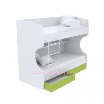 Выдвижной ящик для двухъярусной кровати маленький кв-15-12 Акварели Зеленые
