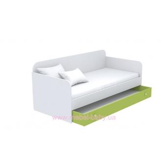 Выдвижной ящик для кровати-дивана большой кв-13-4 Акварели Зеленые