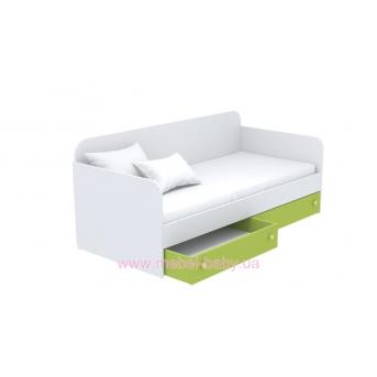 Выдвижной ящик для кровати-дивана маленький кв-15-4 Акварели Зеленые