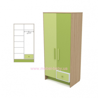 Двухдверный шкаф кв-02 Акварели Зеленые