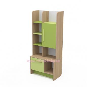 Книжный шкаф кв-04-1 Акварели Зеленые