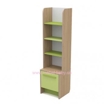 Книжный шкаф кв-05 Акварели Зеленые