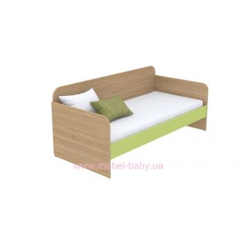 Кровать-диван (матрас 900*2000) кв-11-3 Акварели Зеленые