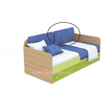 Мягкая накладка для кровати-дивана кв-11-3n Акварели Зеленые