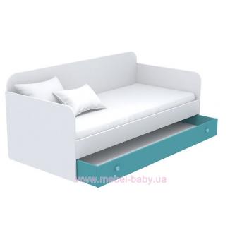 Выдвижной ящик для кровати-дивана большой кв-13-4 Акварели Бирюзовые