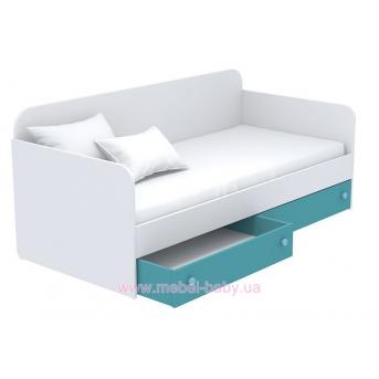 Выдвижной ящик для кровати-дивана маленький кв-15-5 Акварели Бирюзовые