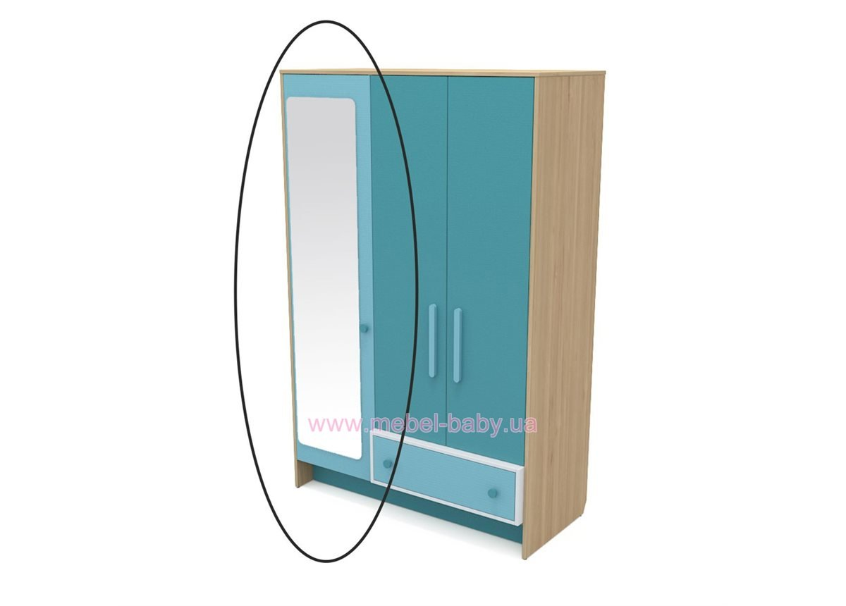 Зеркало к шкафу кв-07-3 Акварели Бирюзовые