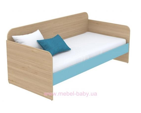 Кровать-диван (матрас 1200*2000 ) кв-11-4 Акварели Бирюзовые