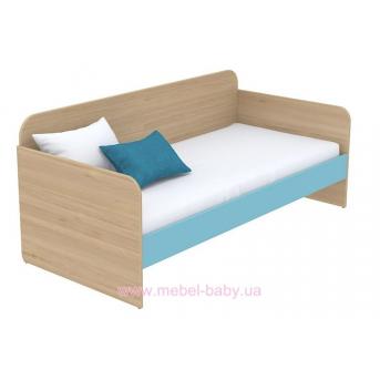Кровать-диван (матрас 900*2000) кв-11-3 Акварели Бирюзовые