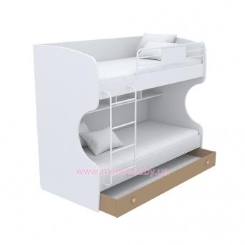 Выдвижной ящик для двухъярусной кровати большой кв-13-12 Акварели Коричневые