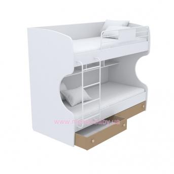 Выдвижной ящик для двухъярусной кровати маленький кв-15-12 Акварели Коричневые