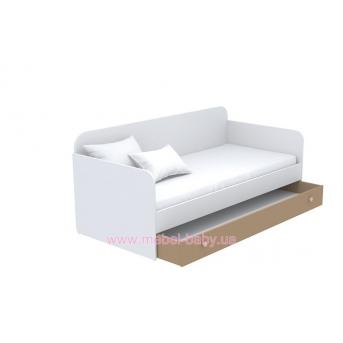 Выдвижной ящик для кровати-дивана большой кв-13-4 Акварели Коричневые