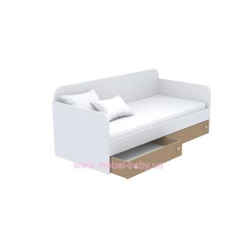 Выдвижной ящик для кровати-дивана маленький кв-15-3 Акварели Коричневые
