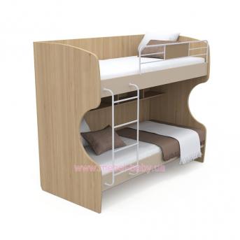 Двухъярусная кровать кв-12 Акварели Коричневые
