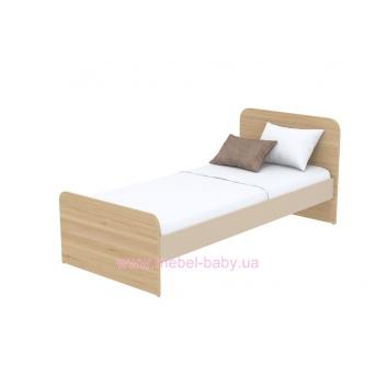 Кровать (матрас 900*2000) кв-11-1 Акварели Коричневые