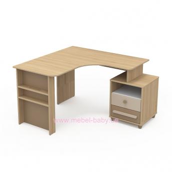Письменный стол угловой кв-08-2 Акварели Коричневые