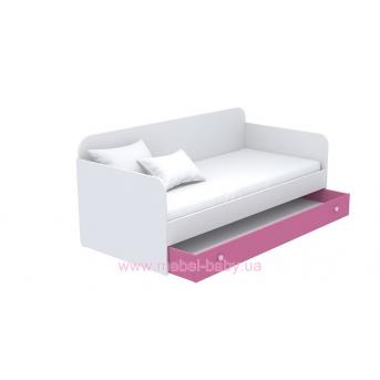 Выдвижной ящик для кровати-дивана большой кв-13-3 Акварели Розовые