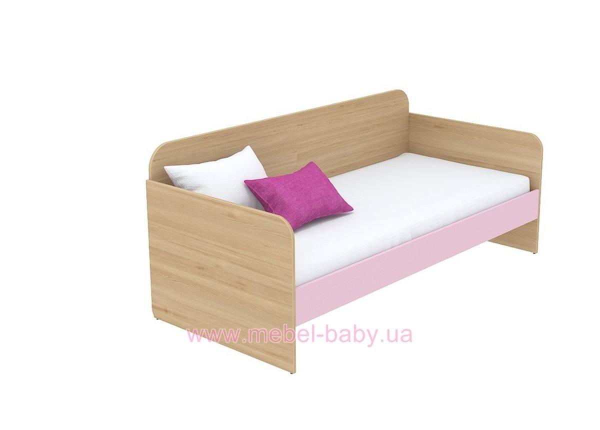 Кровать-диван (матрас 900*1900) кв-11-5 Акварели Розовые