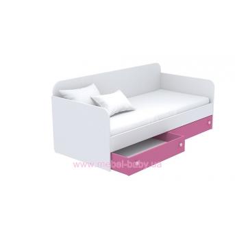 Выдвижной ящик для кровати-дивана маленький кв-15-5 Акварели Розовые