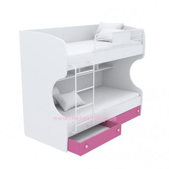 Выдвижной ящик для двухъярусной кровати маленький кв-15-12 Акварели Розовые