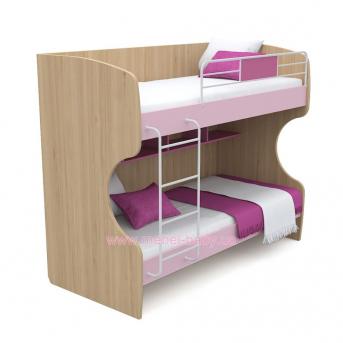 Двухъярусная кровать кв-12 Акварели Розовые