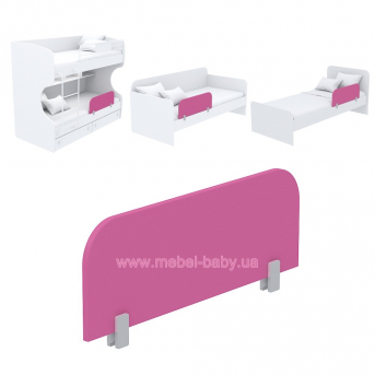 Защитная боковина к кровати кв-20 Акварели Розовые