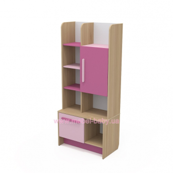 Книжный шкаф кв-04-1 Акварели Розовые