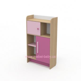 Книжный шкаф кв-04-2 Акварели Розовые