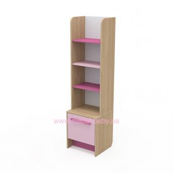 Книжный шкаф кв-05 Акварели Розовые