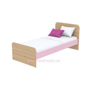 Кровать (матрас 900*2000) кв-11-1 Акварели Розовые