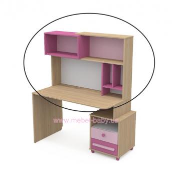 Надстройка к столу кв-09-1 Акварели Розовые