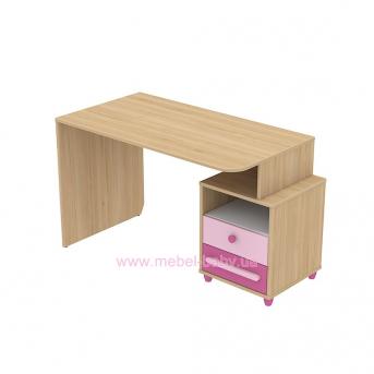 Письменный стол кв-08-1 Акварели Розовые