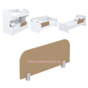 Защитная боковина к кровати кв-20 Акварели Коричневые