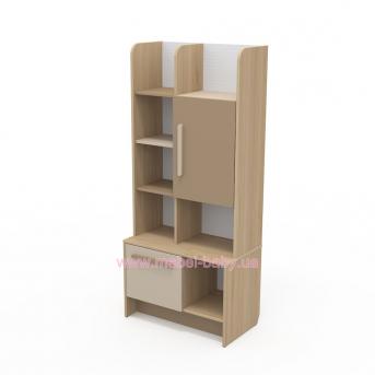 Книжный шкаф кв-04-1 Акварели Коричневые