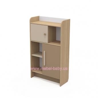 Книжный шкаф кв-04-2 Акварели Коричневые